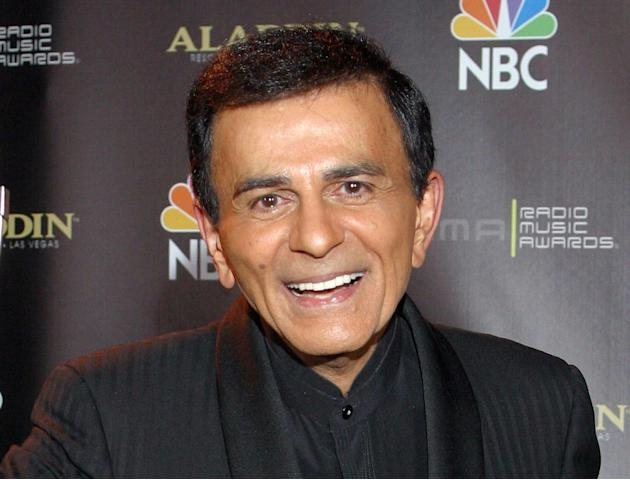 FILE - In this Oct. 27, 2003, file photo, Casey Kasem poses for photographers after receiving the Radio Icon award during The 2003 Radio Music Awards at the Aladdin Resort and Casino in Las Vegas. Thr