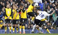 Blackburn players during a match against Tottenham Hotspur on April 29, 2012. Arsenal's Per Mertesacker insists his team will focus on Blackburn in the FA Cup, just 72 hours before German giants Bayern Munich arrive in north London for a last 16 Champions League first leg clash