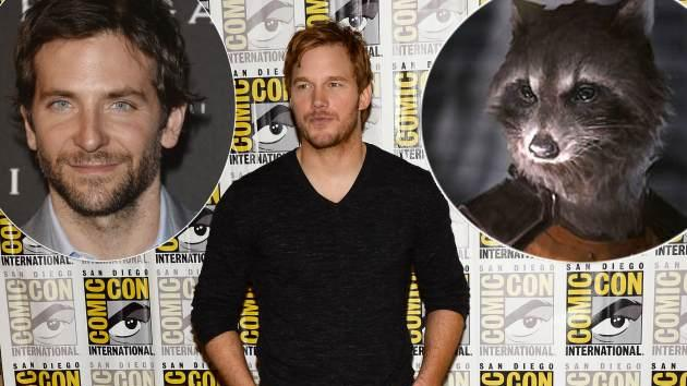 Chris Pratt / Bradley Cooper / Rocket Raccoon -- Getty Images