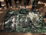 Weapons seized by the Uganda army during the capture of Ceasar Acellam, a senior member of the Lord's Resistance Army. Ugandan troops have captured a senior member of the LRA in a milestone arrest that could signal they are closing in on notorious rebel leader Joseph Kony