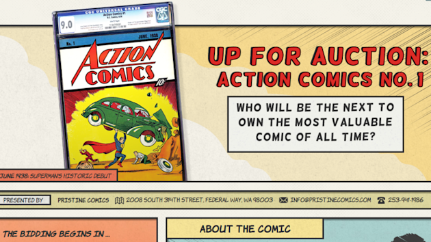 Up For Auction: Action Comics No. 1 !!