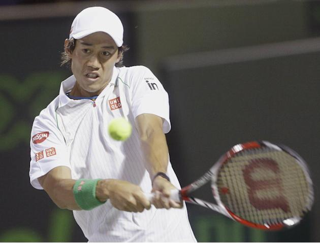 Nishikori reaches quarterfinals at Barcelona Open