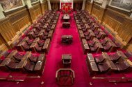 The Senate chamber on Parliament Hill is seen Tuesday May 28, 2013 in Ottawa. THE CANADIAN PRESS/Adrian Wyld