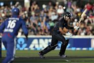 New Zealand's Ross Taylor bats during the International One Day cricket match between New Zealand and England in Hamilton on Febuary 17, 2013. New Zealand beat England by three wickets to claim the opening match in their one-day international series