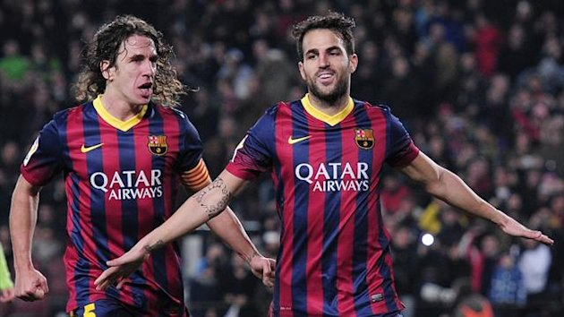 Puyol and Cesc Fábregas