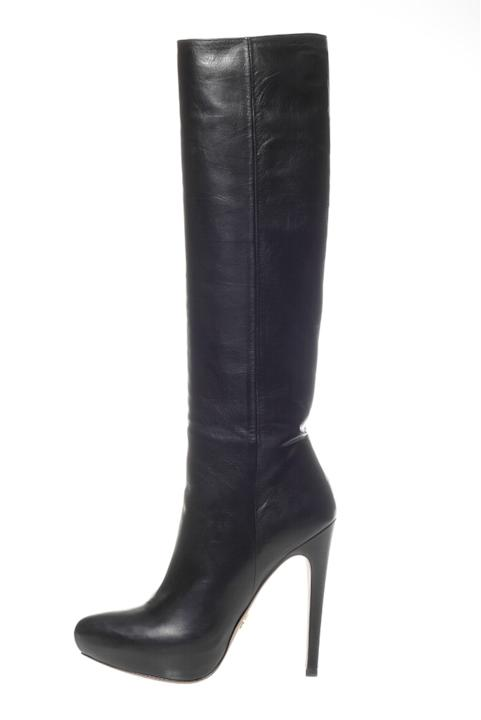 #3 Sexiest Shoe: Prada knee-high leather boot with covered platform, $1,200