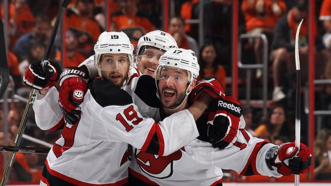 Ilya Kovalchuk #17 Of The New Jersey Devils Celebrates His Powerplay Goal At 5:00 Of The Third Period Against The Getty Images