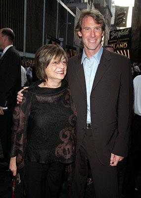 Director Michael Bay with his mother at the New York premiere of Dreamworks' The Island