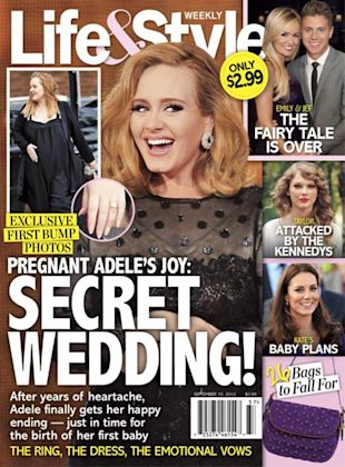 PHOTO: First Picture Of Adele's Baby Bump And Wedding Ring Surface Online