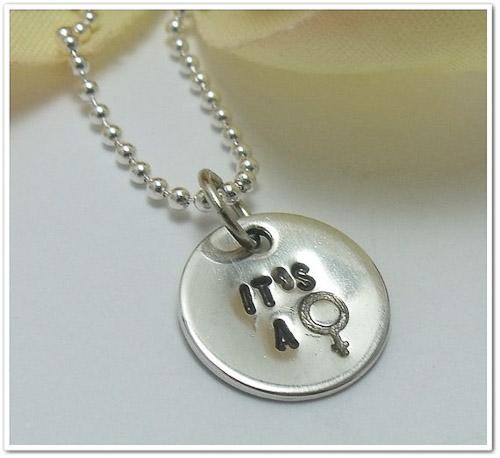 Hand-Stamped Gender Necklace