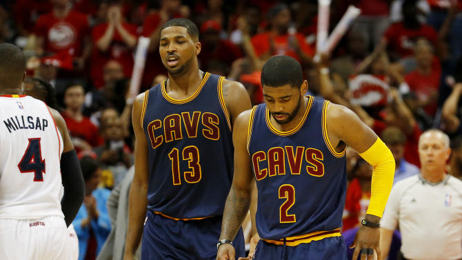 Cavs' Irving misses shootaround, questionable for Game 2