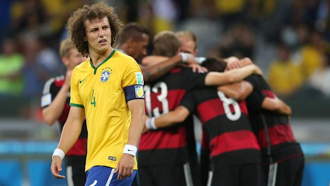 World Cup - Tearful David Luiz apologises to 'all Brazilians'