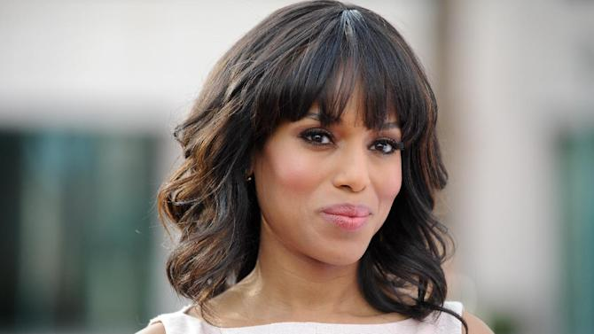 FILE - This May 16, 2013 photo shows actress Kerry Washington at the Academy of Television Art and Sciences' event in North Hollywood, Calif. Washington married professional football player Nnamdi Asomugha last week in Idaho. E! was the first to report the nuptials Wednesday, July 3, and posted a copy of the couple's marriage license online. The 36-year-old actress and 31-year-old athlete were married on June 24 in Hailey, Idaho. (Photo by Richard Shotwell/Invision/AP, File)