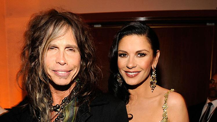 2013 Vanity Fair Oscar Party Hosted By Graydon Carter - Inside: Steven Tyler and Catherine Zeta-Jones