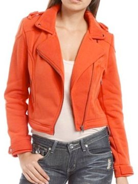 Fleece lined motorcycle jacket