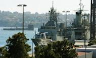 Australian Navy ships are seen at the Garden Island Naval Dockyard, near Sydney, on May 8. Australian Treasurer Wayne Swan is due to deliver the nation's toughest budget in 25 years, which is set to include deep cuts to spending on defence