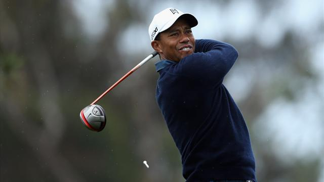 Golf - Tiger takes control at rainy Torrey Pines