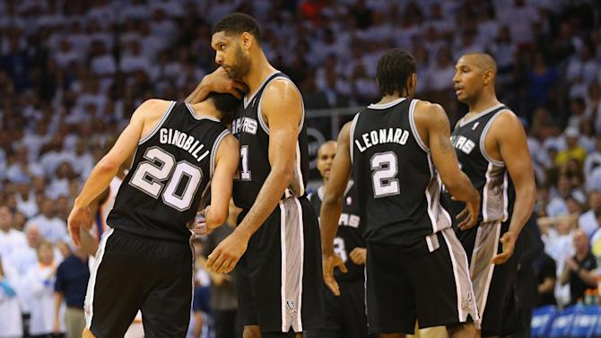 Basketball - Spurs edge Thunder, set up finals rematch with Heat