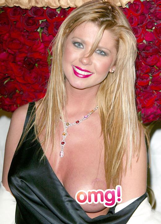 Worst Wardrobe Malfunctions: Tara Reid made our jaws drop when her strap fell down on the red carpet in 2004, leaving her entire breast on show. Talk about an eyeful. Copyright [Wenn]