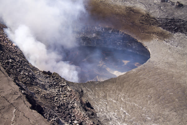 The lava lake in Halemau'ma'u crater at the summit of Kilauea volcano on Jan. 10, 2013.