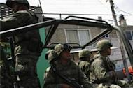 Soldiers deployed to outskirts of Mexico City