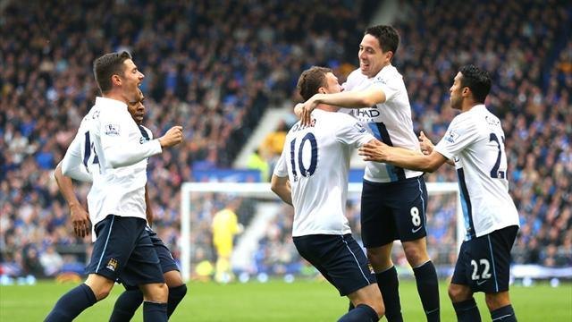 Premier League - City hold on to take control of title race
