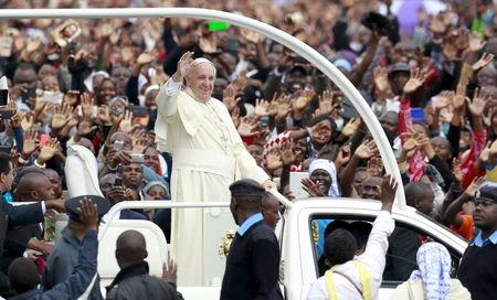 Pope offers lesson in humility to flashy African leaders