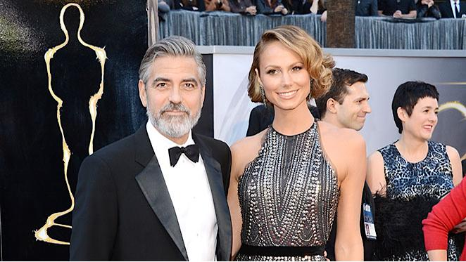85th Annual Academy Awards - Arrivals: George Clooney and Stacy Keibler