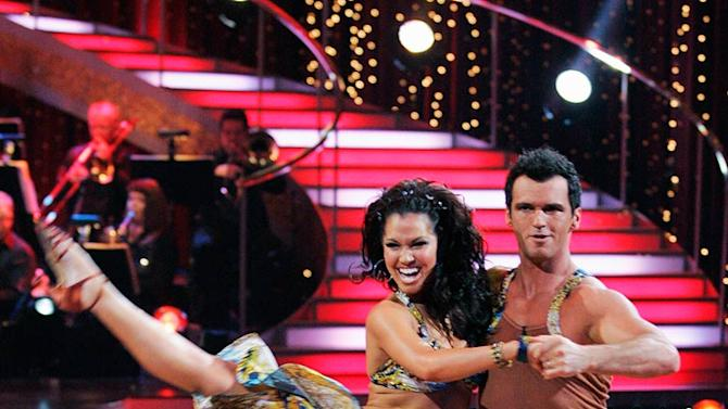 "Melissa Rycroft and Tony Dovolani perform the Salsa to ""The Cup of Life"" by Ricky Martin on ""Dancing with the Stars."""