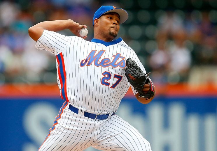 NEW YORK, NY - JULY 31: Jeurys Familia #27 of the New York Mets pitches in the ninth inning against the Colorado Rockies at Citi Field on July 31, 2016 in the Flushing neighborhood of the Queens borough of New York City. (Photo by Jim McIsaac/Getty Images)