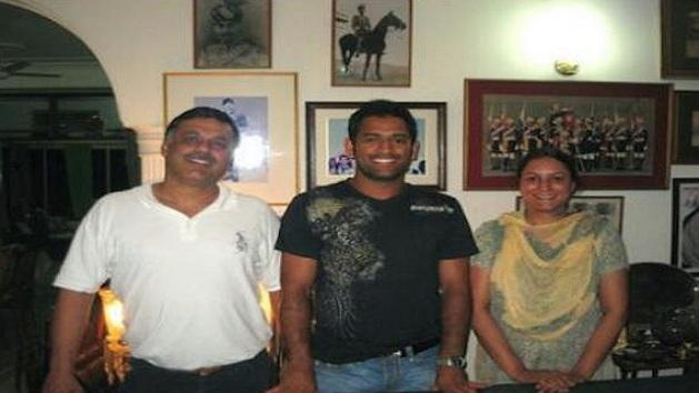 Dhoni under scrutiny for pictures with sex racket accused ex-Col Ahlawat