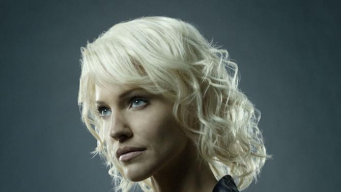 Tricia Helfer stars as Number Six in Battlestar Galactica on the SciFi Channel.