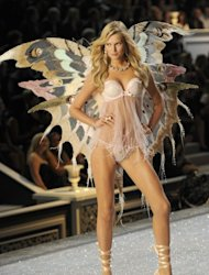 Toni Garrn at the Victoria's Secret Fashion Show in November 2011