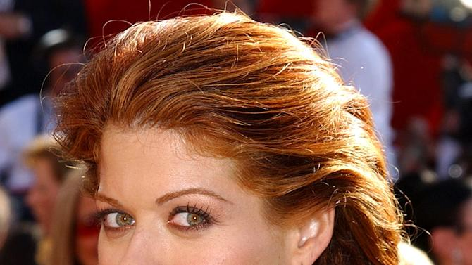Debra Messing at The 54th Annual Primetime Emmy Awards.