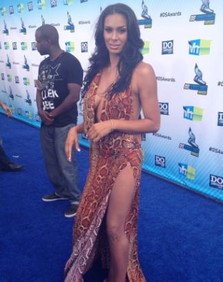 'Basketball Wives' Star Laura Govan Rocks Risque Chiffon Dress To Awards