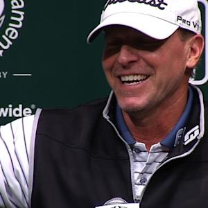 Steve Stricker comments before the Memorial