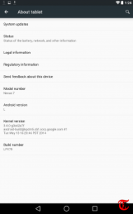 Step by Step Guide to Install Android L on Nexus image About Tablet Android L