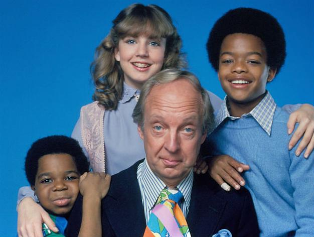 Bain... with co-stars on Diff'rent Strokes (Copyright: WENN)