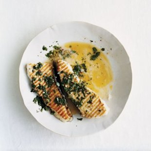 Grilled Halibut with Chimichurri