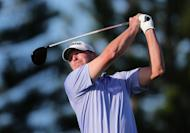 Steve Stricker hits a tee shot during the final round of the Hyundai Tournament of Champions in Hawaii on January 8, 2013. He had to battle through a nerve problem in his upper thigh, but shot a 69 and finished alone in second place at 12-under