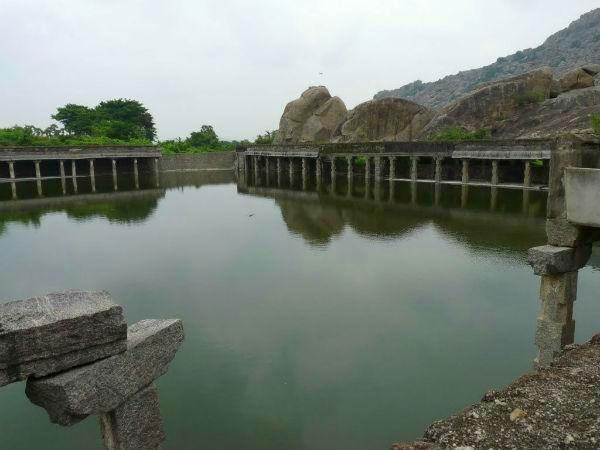 Bathing tank in the Gingee fort precincts