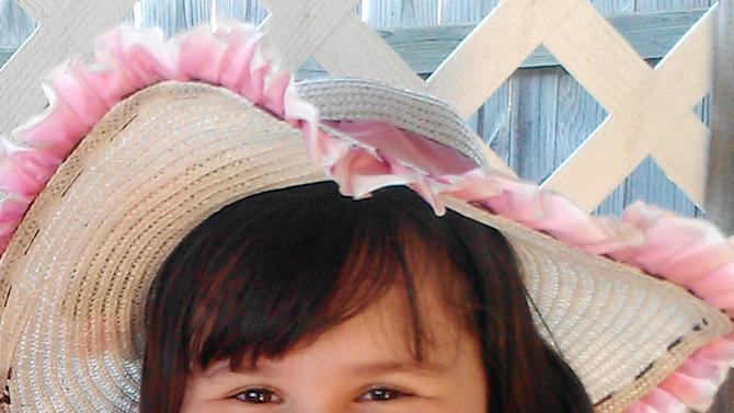 This undated handout photo provided by Brandie Candelaria shows Antonia Candelaria. Candelaria was killed when a tornado struck Plaza Towers Elementary School in Moore, Okla., on Monday, May 20, 2013. (AP Photo/Courtesy of Brandie Candelaria)