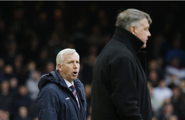 Football: Crystal Palace manager Alan Pardew and West Ham manager Sam Allardyce