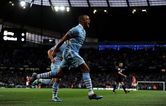 Vincent Kompany Of Manchester City Celebrates Getty Images