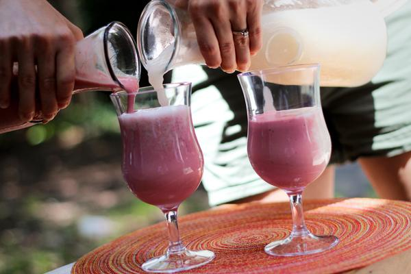 The perfect red and white frozen sangria swirl.