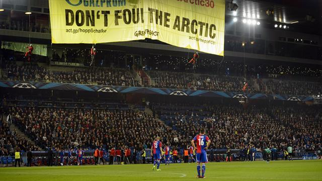 Champions League - Basel face action over anti-Gazprom protest
