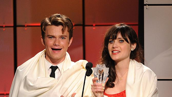 Chris Colfer, Zooey Deschanel