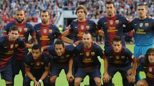 Liga - Barca line up Thai date