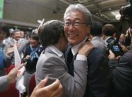 Japan's Olympic Committee President Tsunekazu Takeda celebrates as Jacques Rogge President of the International Olympic Committee (IOC) announces Tokyo as the city to host the 2020 Summer Olympic Game during a ceremony in Buenos Aires September 7, 2013. REUTERS/Marcos Brindicci