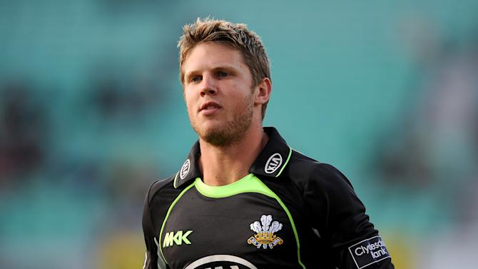 Stuart Meaker, pictured, will join the England squad as injury cover for Steven Finn